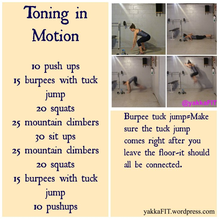 Toning in Motion