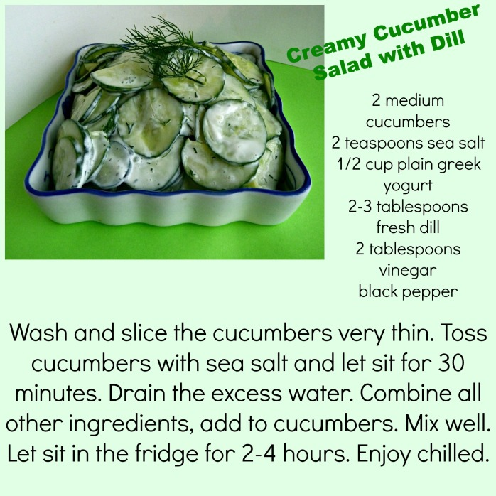 Cucumber Salad and Dill