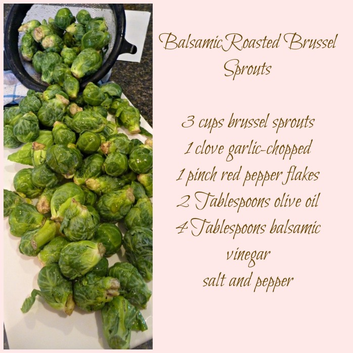 Oven Roasted Brussels