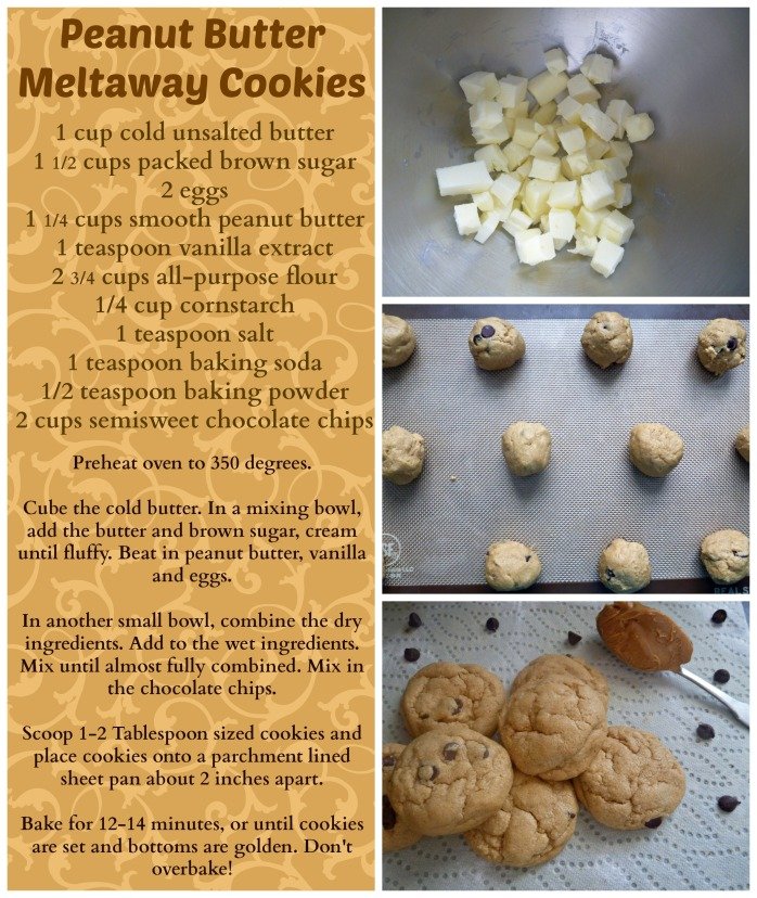 Melty Peanut Butter Cookies